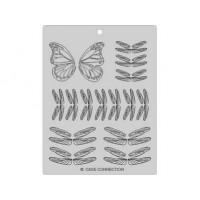 Feuille de veinage pour papillon et libellule
