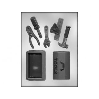 Moule Coffre et outils de menuisier