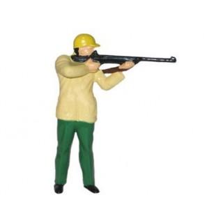 Figurine Chasseur avec carabine - Jaune