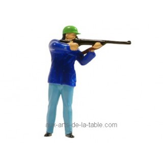 Figurine Chasseur avec carabine - Bleu