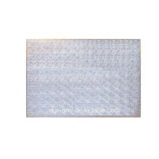 Carton plateau rectangulaire argenté