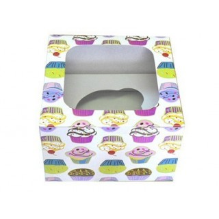 """Boite Cupcakes colorés 4.5"""""""