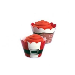Wrap à cupcake réversible Noël