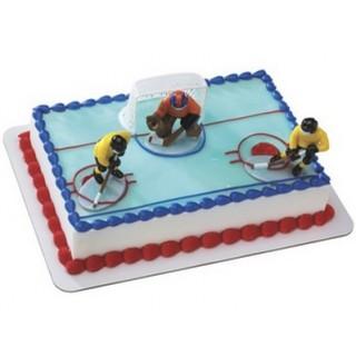 Joueurs de hockey - Mise au jeu