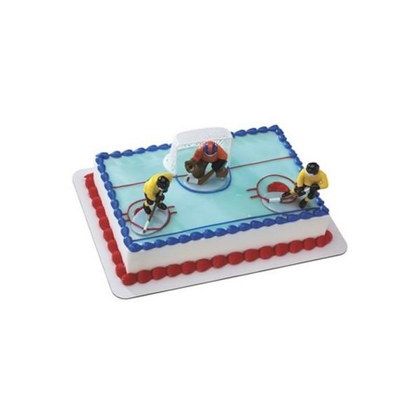 deco gateau hockey sur glace