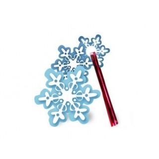 Attache et étiquette Flocons de neige