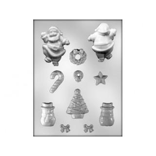 Moule Père Noël et bonhomme de neige 3D