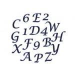 Découpoir Alphabet & nombre - Lettre script majuscule