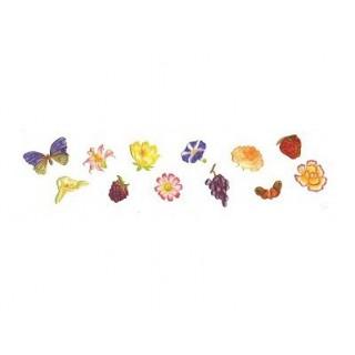 Découpoir Fleurs, fruits et papillons