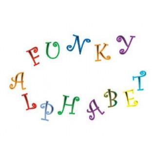 Découpoir Alphabet & Nombre Funky - Majuscule