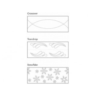 Rouleau embosseur Croisé - Larme - Flocon de neige