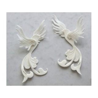 Ensemble Oiseau-mouche décoratif 3-D