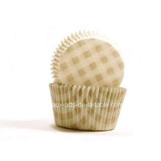 Moule à muffin Vichy or