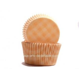 Moule à muffin Vichy orange brûlé