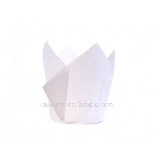 Moule en papier Petite Tulipe Blanche