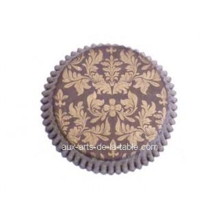Moule en papier Damask Brun et or