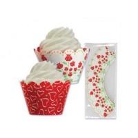 Wrap à cupcake réversible Rose et coeur