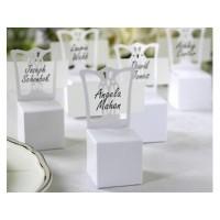 Boite Marque-place Chaise blanche