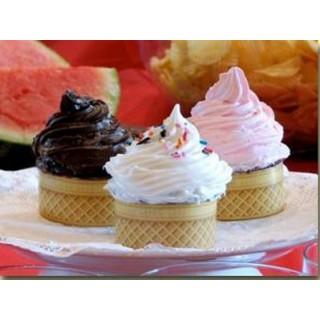 Cupcake Le cornet de crème glacée