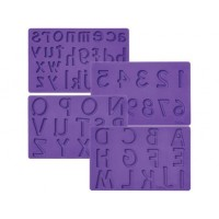 Moule Alphabet Majuscule, minuscule et chiffre