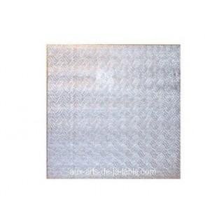 """Carton plateau carré argenté 12 x 0.5"""""""