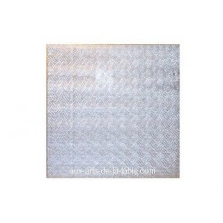 """Carton plateau carré argenté 10 x 0.5"""""""