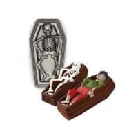 Moule à gâteau Gros cerceuil avec squelette 3-D