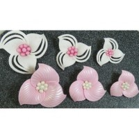 Pochoirs Fleurs de tissus 3-D