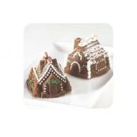 Moule Peitites maisons de pain d'épice 3-D
