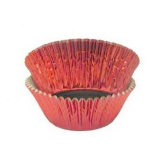Moule en papier d'aluminium Rouge
