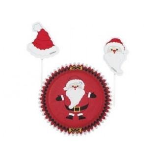 Moule en papier et pick Père Noël