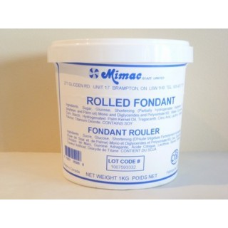 Fondant à rouler blanc Mimac 2.2 lbs / 1 kg