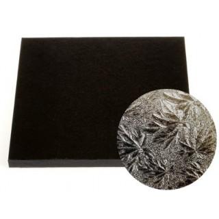 """Carton plateau carré noir 10"""" x 0.5"""""""