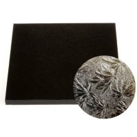 """Carton plateau carré noir 12"""" x 0.5"""""""