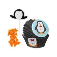Moule en papier et pick Pingouin