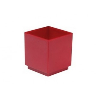 Verrine cube rouge 65 ml