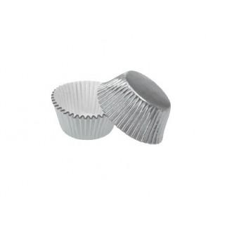 Mini moule en papier d'aluminium Argent