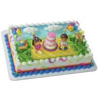 Figurine Dora et Diego Fête d'anniversaire