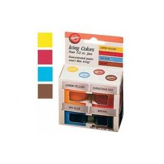 Colorant à glaçage 4 couleurs