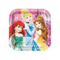 "Assiette 9"" Princesses Disney"