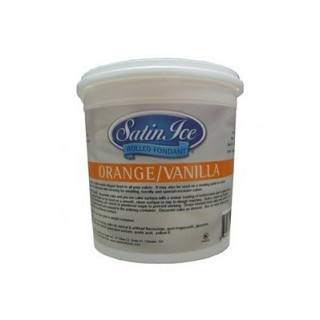 Fondant à rouler Satin Ice - Orange 1 kg
