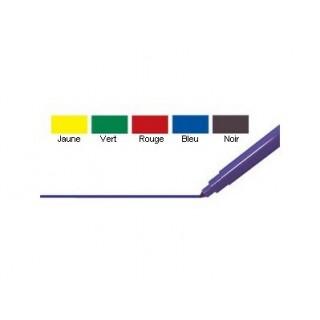 5 marqueurs de couleur Pointe fine