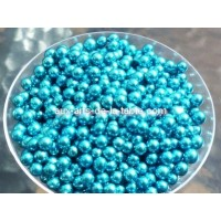 Perle bleue métallisé 4 mm