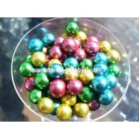 Perle multicolore métallisée 8 mm