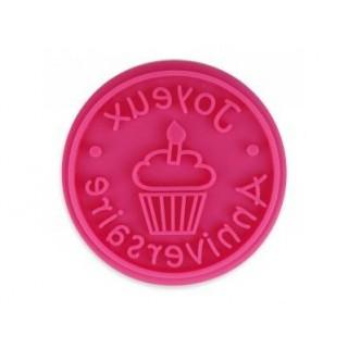 Pastille pour tampon à biscuit - Joyeux anniversaire