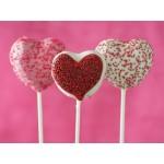 Ensemble Moule à cake pops Coeur