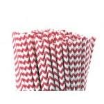 Baton à cake pops / Paille - Chevron rouge