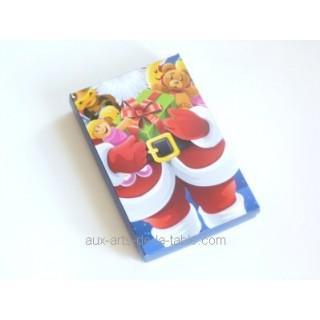 Boite pour chocolat Père Noël et ses jouets 12 choc.