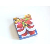 Boite pour chocolat Père Noël et ses jouets 6 choc.