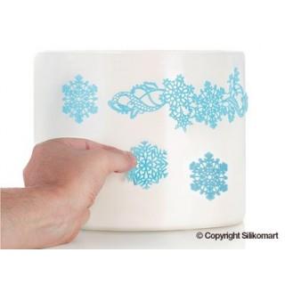 Tapis pour glaçage souple - Les flocons de neige